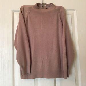 VINTAGE Beige Mockneck Sweater